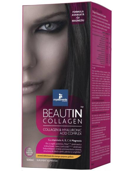 Beautin Collagen Lichid + Magneziu cu aroma Mango-Pepene 500 ml