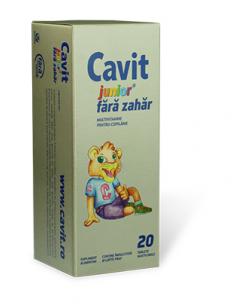 Cavit Junior Fara zahar x 20 tb. masticabile