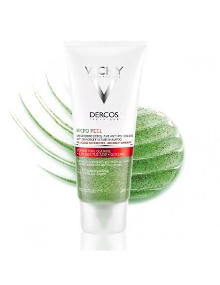 Vichy Dercos Micro Peel sampon exfoliant antimatreata 200 ml