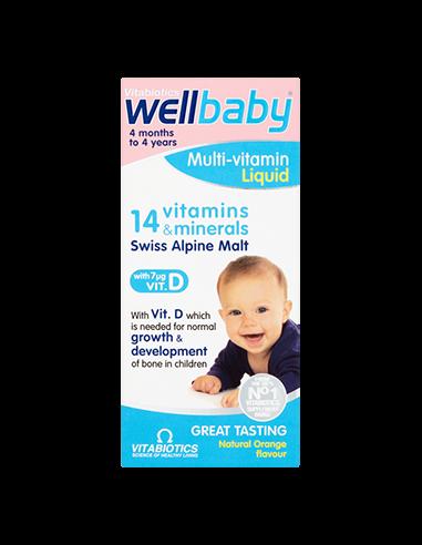 WellBaby sirop 14 vitamine si minerale 150ml Vitabiotics