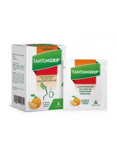 Tantumgrip 600mg/10mg gust de portocala 10 plicuri Angelini