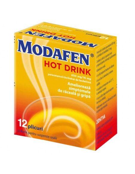 Modafen HotDrink 650mg/10mg plb.or x 12 plicuri