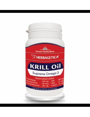 Supreme Krill Omega3 Forte 30 cps, Herbagetica